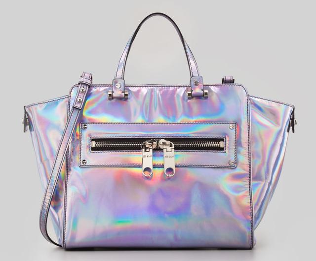 Milly Hologram Demi Tote Bag