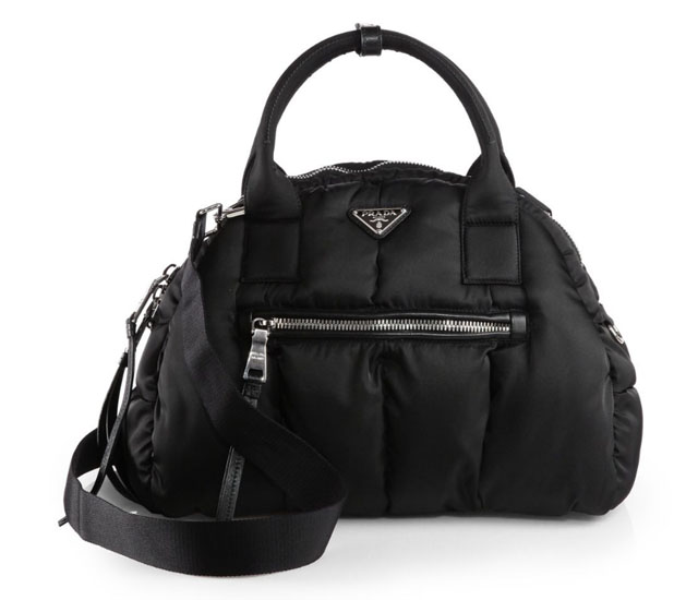 Prada Tessuto Bomber Bowler Bag