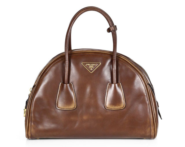 Prada Vitello Vintage Bowler Bag