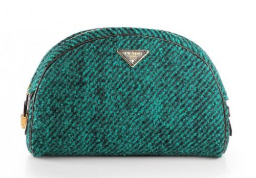 Prada Wool Boucle Bowler Clutch
