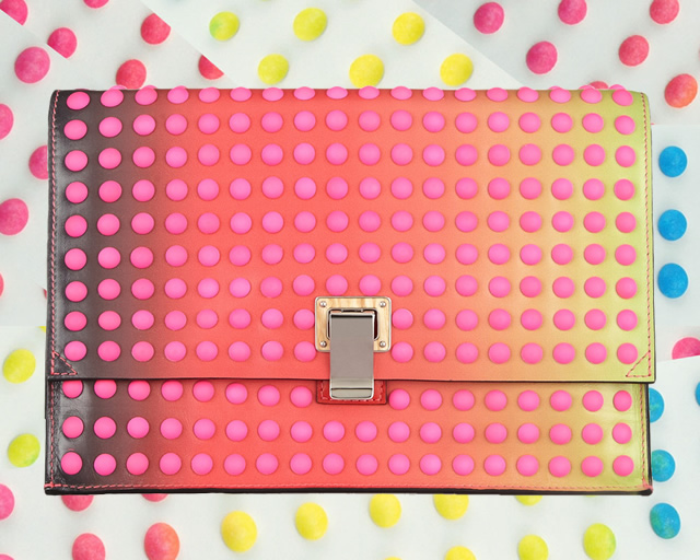 Proenza Schouler Studded degrade leather studded clutch