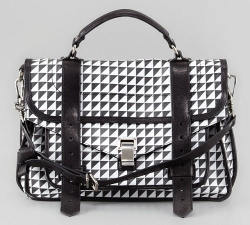 Proenza Schouler Triangle Check PS1 Bag