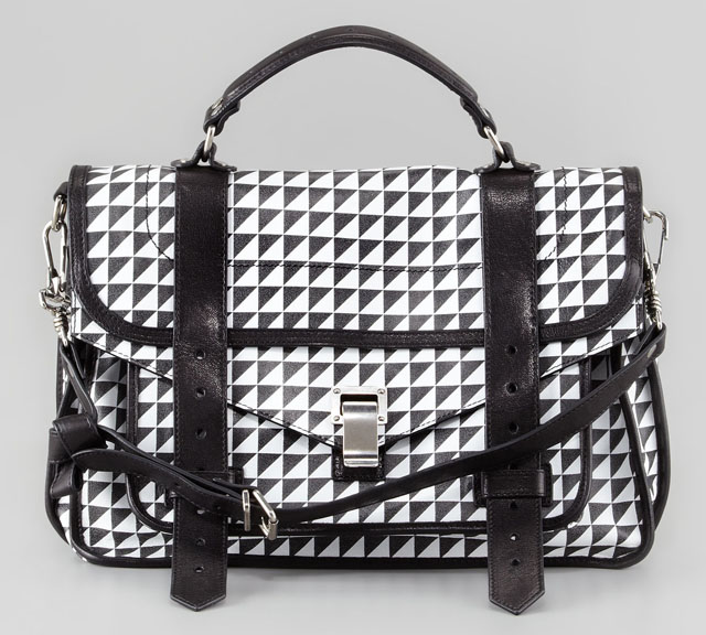 Proenza Schouler Triangle Check PS1 Bag