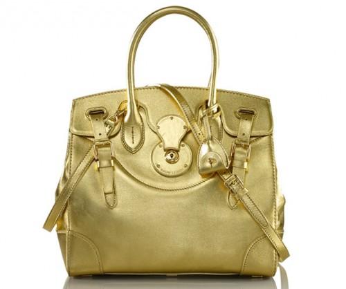 Ralph Lauren Soft Ricky Bag Gold