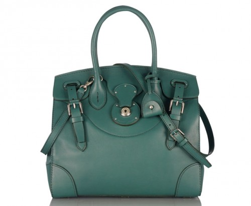 Ralph Lauren Soft Ricky Handbag Green