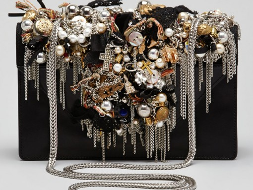 Saint Laurent Betty Borsa Mini Embellished Shoulder Bag