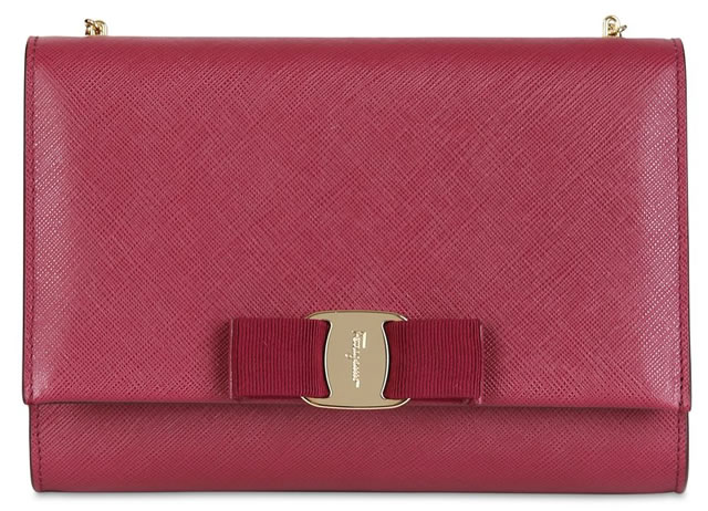 Salvatore Ferragamo Bow Saffiano Shoulder Bag