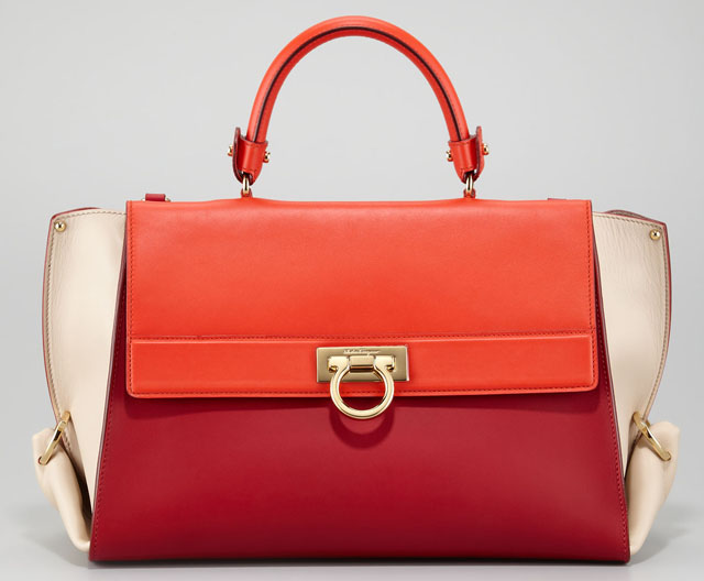 Salvatore Ferragamo Sofia Colorblock Satchel