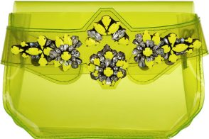 Shourouk Crystal-Embellished PVC Clutch