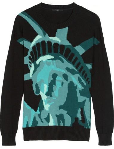 Tibi Statue of Liberty Sweater
