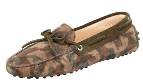 Tod's Camouflage Suede Driving Mocassin