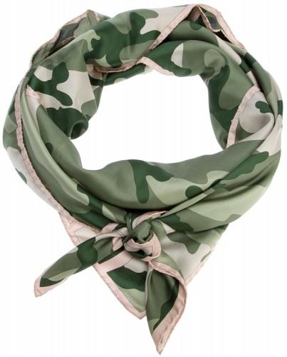 Valentino Camouflage Silk Scarf
