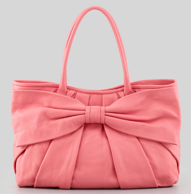 Valentino Red Bow-Front Tote