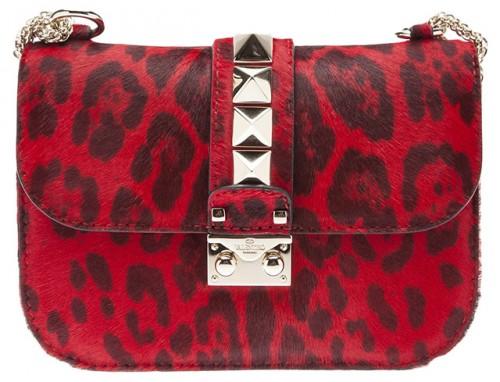 Valentino Rockstud flap bag with lock