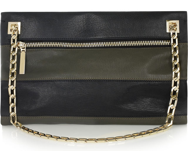 Victoria Beckham Two-Tone Leather Shoulder Bag