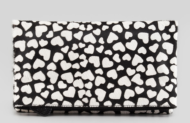 Alice + Olivia Hearts Me Calf Hair Clutch