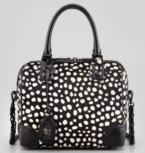 Alice + Olivia Olivia Dotted Calf Hair Bag