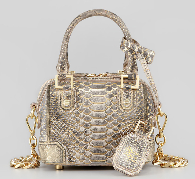 Alice + Olivia Olivia Mini Snake Embossed Bag