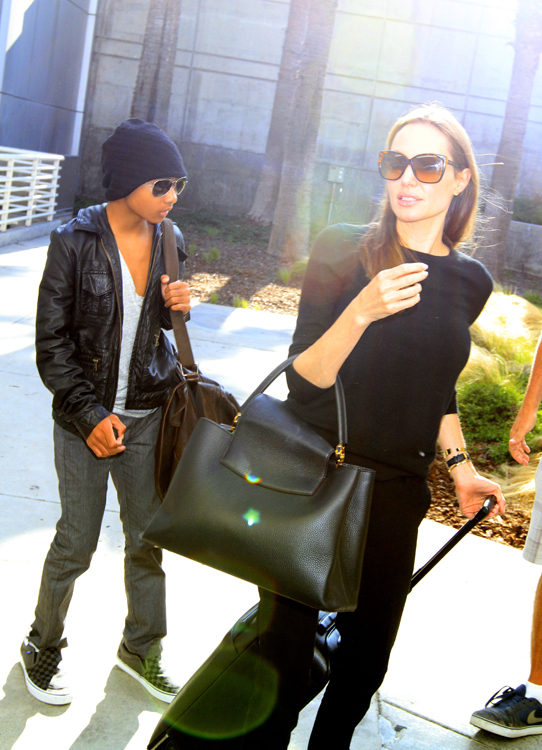 Angelina Jolie carries a Louis Vuitton Capucines Bag in LA (4)