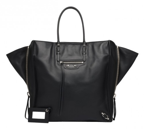 Balenciaga Papier Ledger Zip Around Tote
