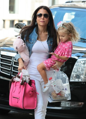 Bethenny Frankel carries a Celine Luggage Tote in NYC (1)