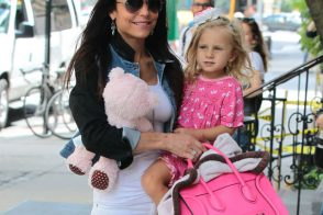 Bethenny Frankel Totes a Toddler and a Celine Bag