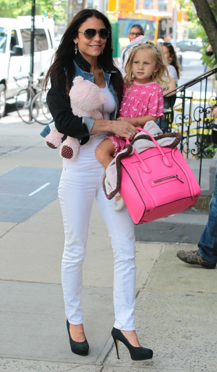 Bethenny Frankel carries a Celine Luggage Tote in NYC (4)