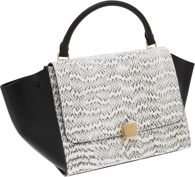 Celine Trapeze Bag in Snakeskin and Leather