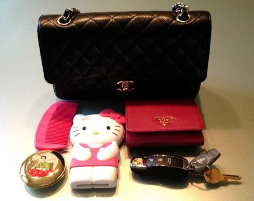 Chanel Classic Flap Bag Hello Kitty