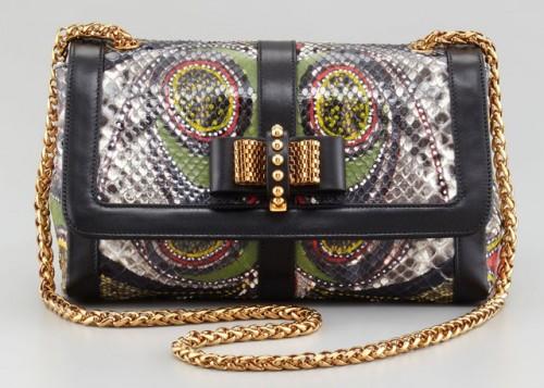 Christian Louboutin Sweet Charity Python Bag