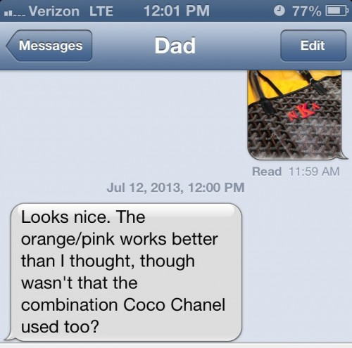 Dad Text Message Goyard