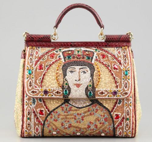 Dolce & Gabbana Large Miss Sicily Queen Regina Satchel
