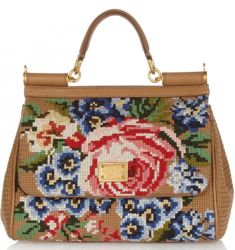 Dolce & Gabbana Miss Sicily Tapestry Bag