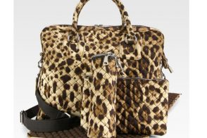 Dolce and Gabbana Leopard Print Diaper Bag