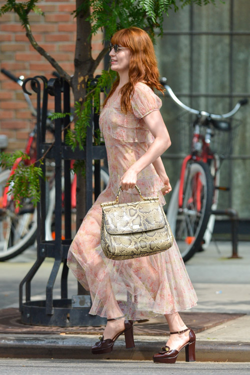 Florence Welch carries a Dolce & Gabbana Miss Sicily Bag in NYC (1)