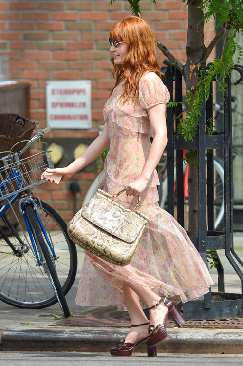 Florence Welch carries a Dolce & Gabbana Miss Sicily Bag in NYC (2)