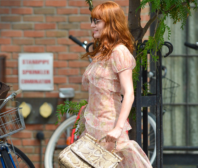 Florence Welch carries a Dolce & Gabbana Miss Sicily Bag in NYC (5)