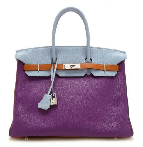 Hermes Birkin 35cm Six Color Leather Arlequin