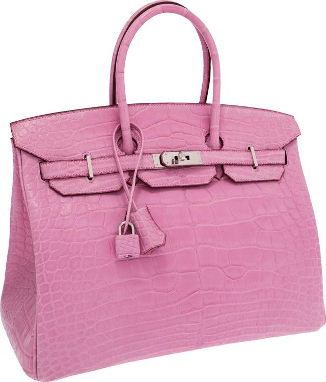Hermes Birkin Matte Pink Alligator Bag