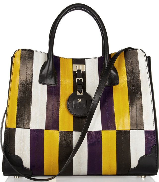 Jason Wu Jourdan Striped Eel Tote