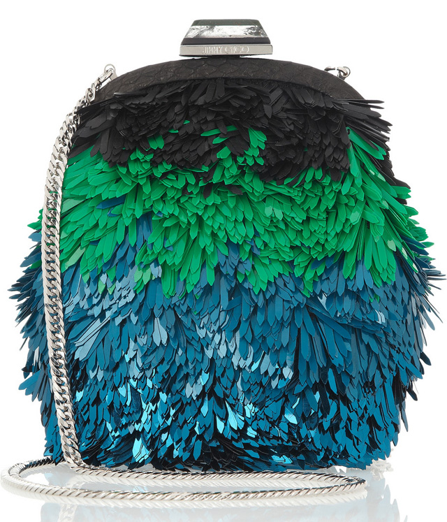 Jimmy Choo Castina Sequined Shoulder Bag