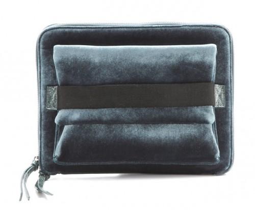 MM6 Maison Martin Margiela Velvet iPad Clutch