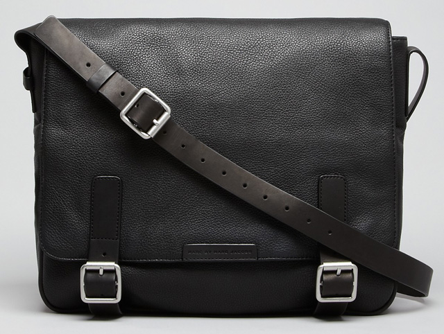 Marc by Marc Jacobs Simple Pebbled Leather Messenger Bag