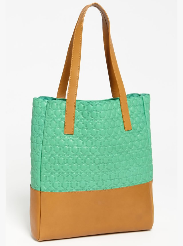 McQ by Alexander McQueen Embossed Leather Tote