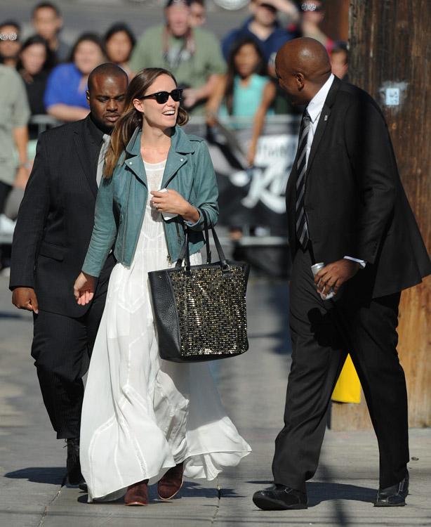 Olivia Wilde Christian Louboutin Panettone Spiked Shopper Tote Bag-1