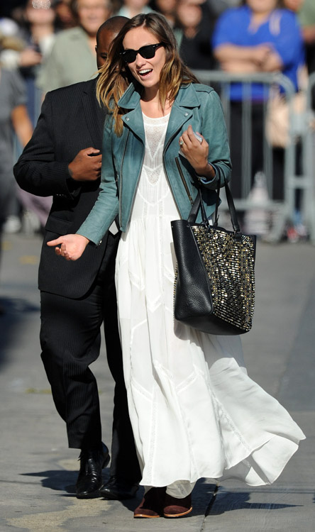 Olivia Wilde Christian Louboutin Panettone Spiked Shopper Tote Bag-2