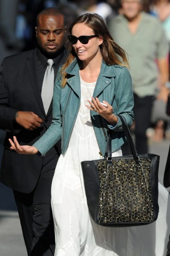 Olivia Wilde carries a studded Christian Louboutin tote in LA (3)