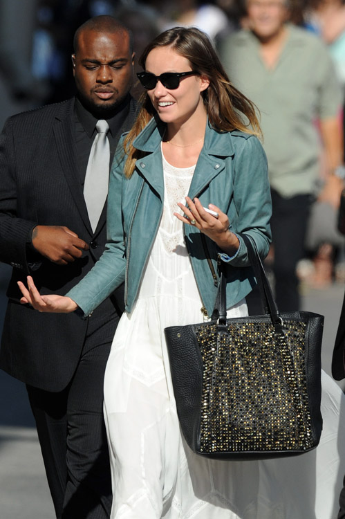 Olivia Wilde Christian Louboutin Panettone Spiked Shopper Tote Bag-4