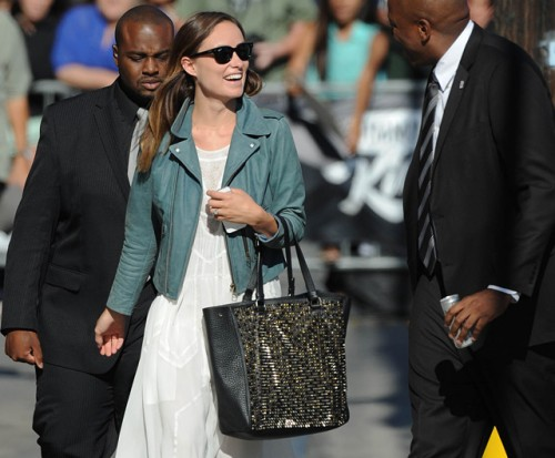 Olivia Wilde carries a studded Christian Louboutin tote in LA (5)