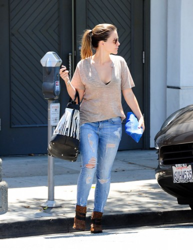 Sophia Bush carries a Coach x Krink tote in Beverly Hills (1)